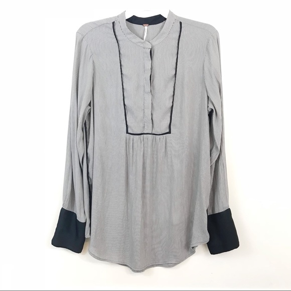 035de865 Free People Tops - Free People Striped button down tunic size L